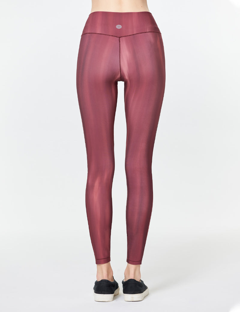easyoga LA-VEDA Eveness Core Leggings - FE3 Twilight Burgundy
