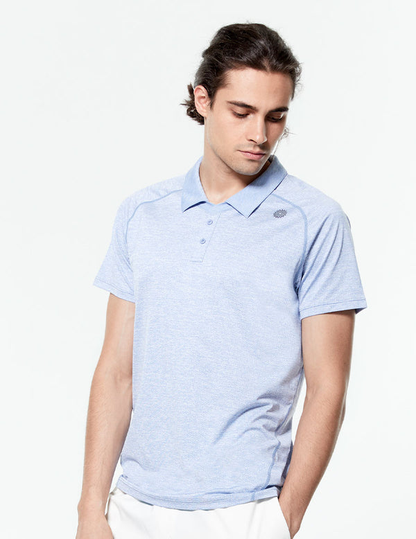 easyoga LA-VEDA Men's Speedy Polo Shirt - M5 M-Blue