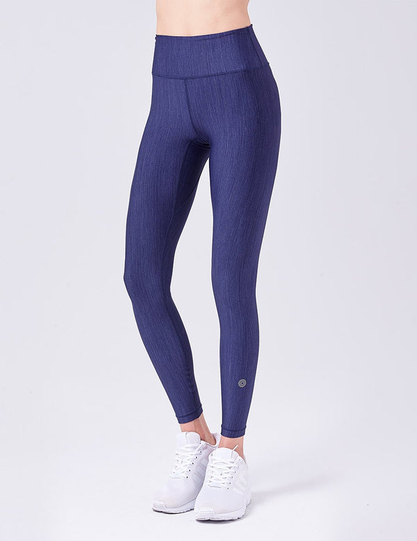 easyoga Lespiro Glossy Slim Leggings - B3 Dark Blue