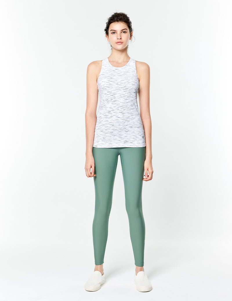 easyoga LA-VEDA Chummy Core Tights2 - G05 Bean Green