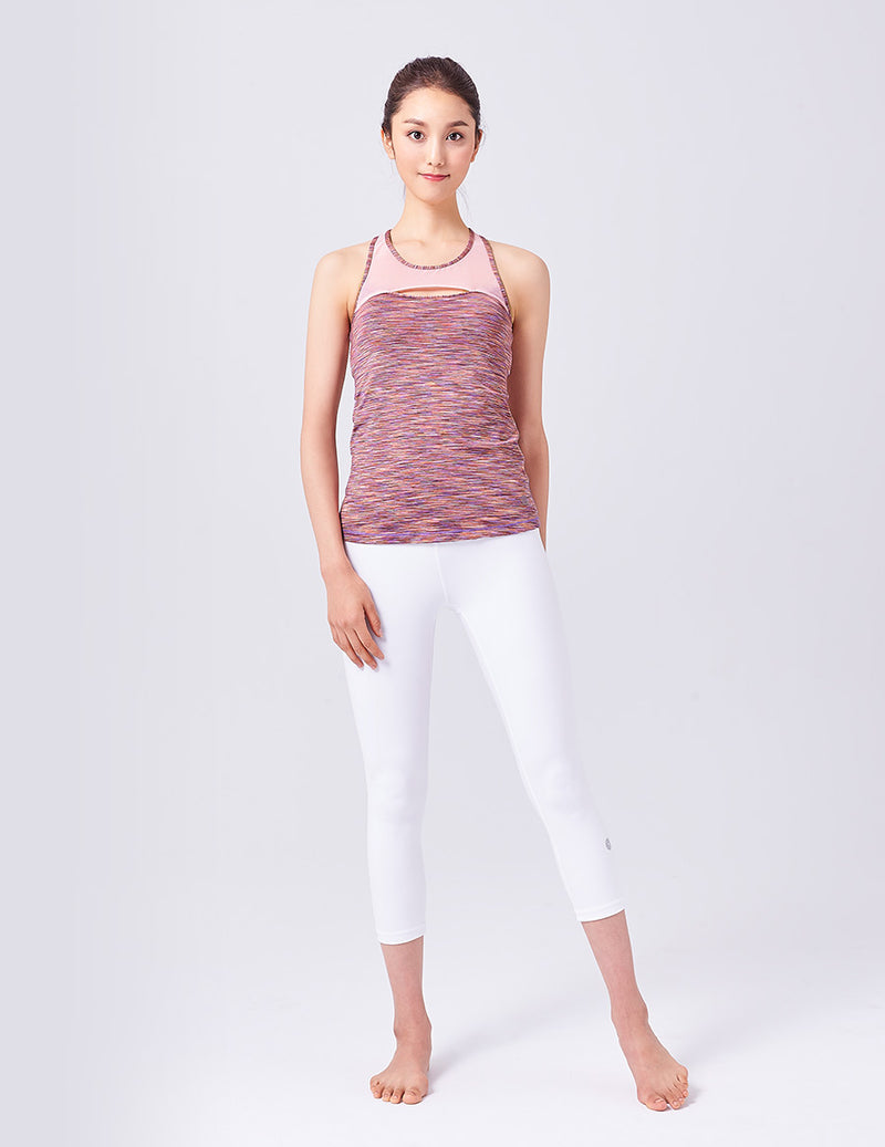easyoga LA-VEDA Free to Flow Tank - D58 Blue/Red Stripe