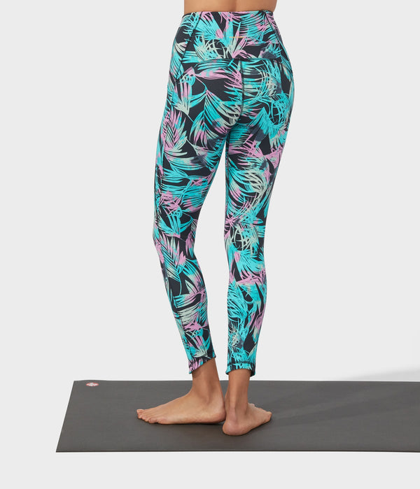 Manduka Apparel - Women's PRO Legging - High Rise 7/8 W/Pocket - Tropics - Black