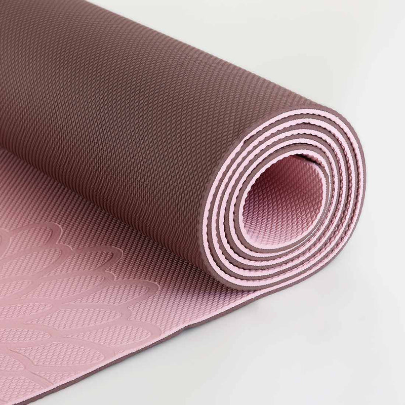 easyoga Premium Eco-care Yoga Mat Plus - R2 Pink/Brown