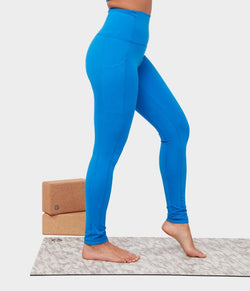 Manduka Apparel - Women's Renew Legging - Be Bold Blue