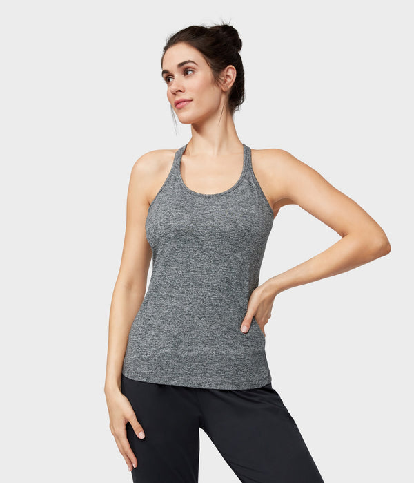 Manduka Apparel - Women's Anywhere Racerback Cami - Salt and Pepper