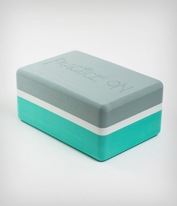 Manduka Recycled Foam Yoga Block (Limited Edition) - Seafoam 3-tone
