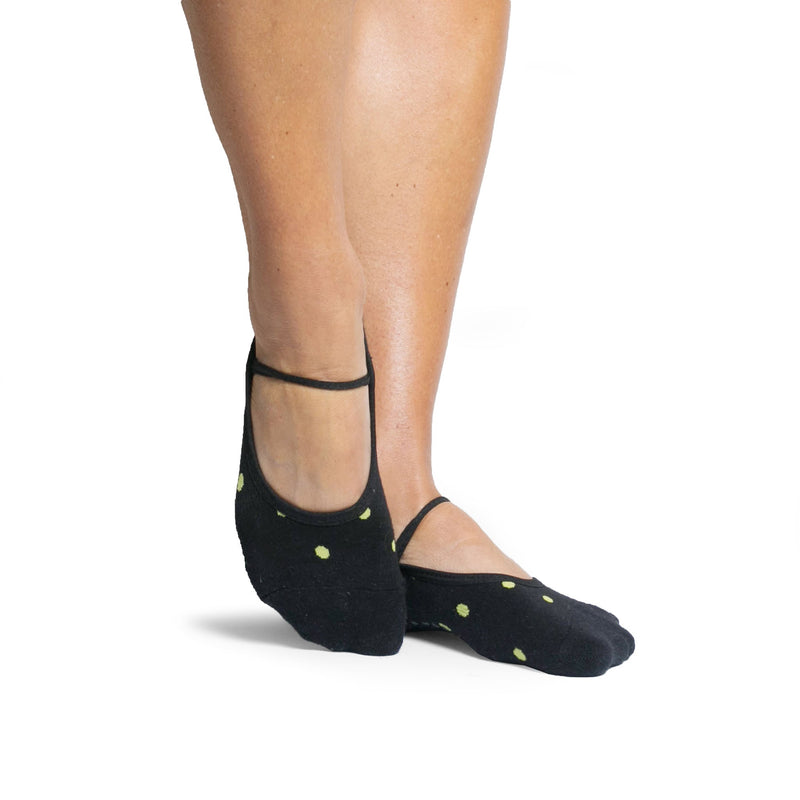 Pointe Studio Shay Dance Sock - Black Green