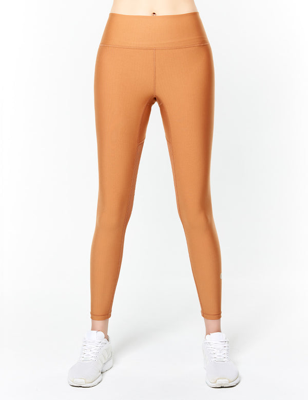 easyoga Lespiro Groovon's Inwards Gym Tights - C10 Caramel Brown