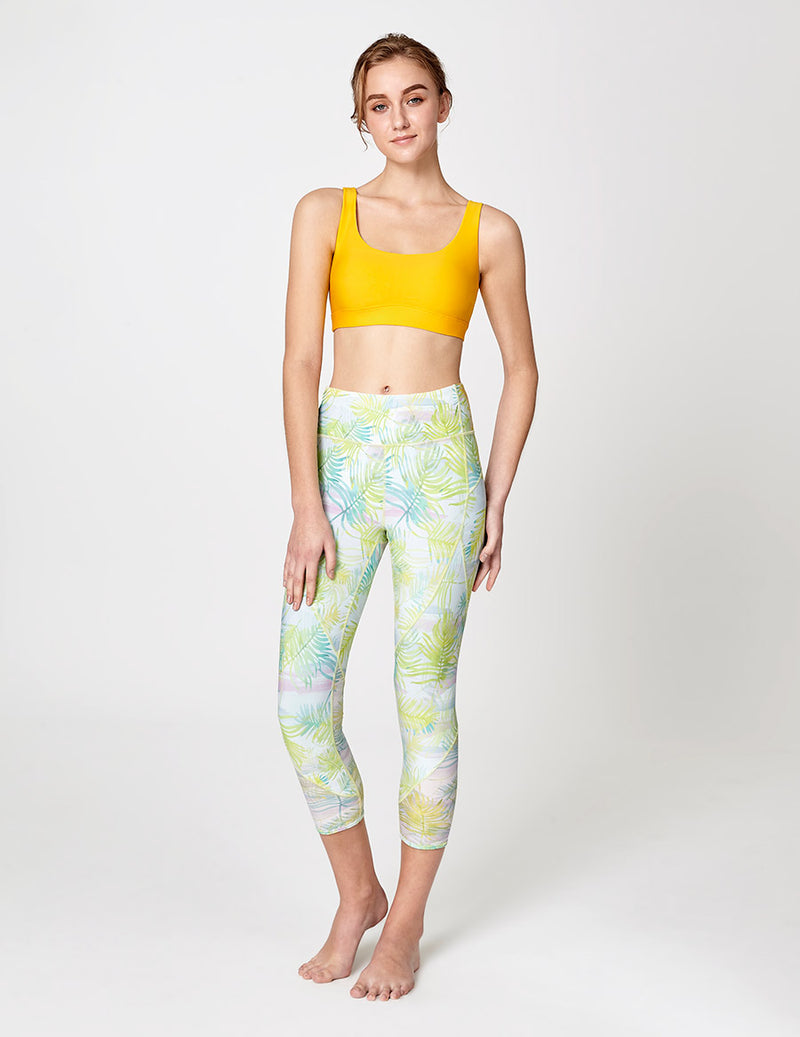easyoga LA-VEDA Mover Cropped Tights - FA2 Swaying Plants