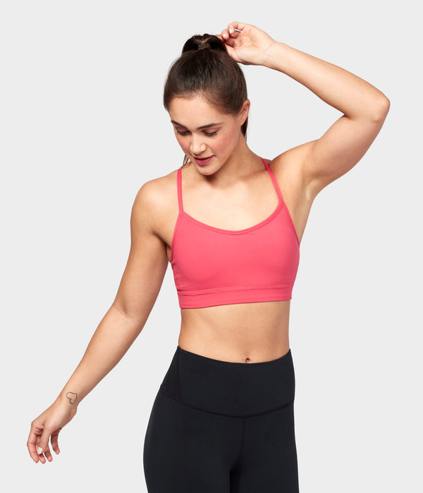 Manduka Apparel - Women's Solite Strappy Bra - Grape Fruit