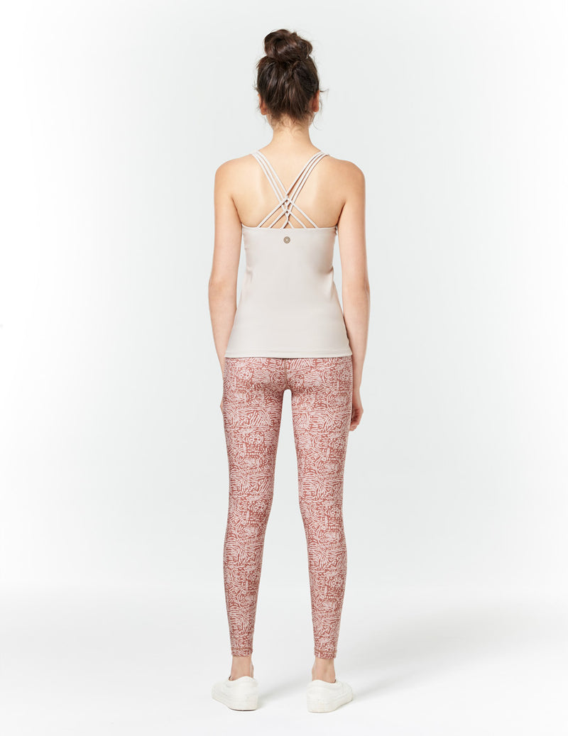 easyoga LA-VEDA Twiggy Core Tights3 - FD8 Tribe Brick Red