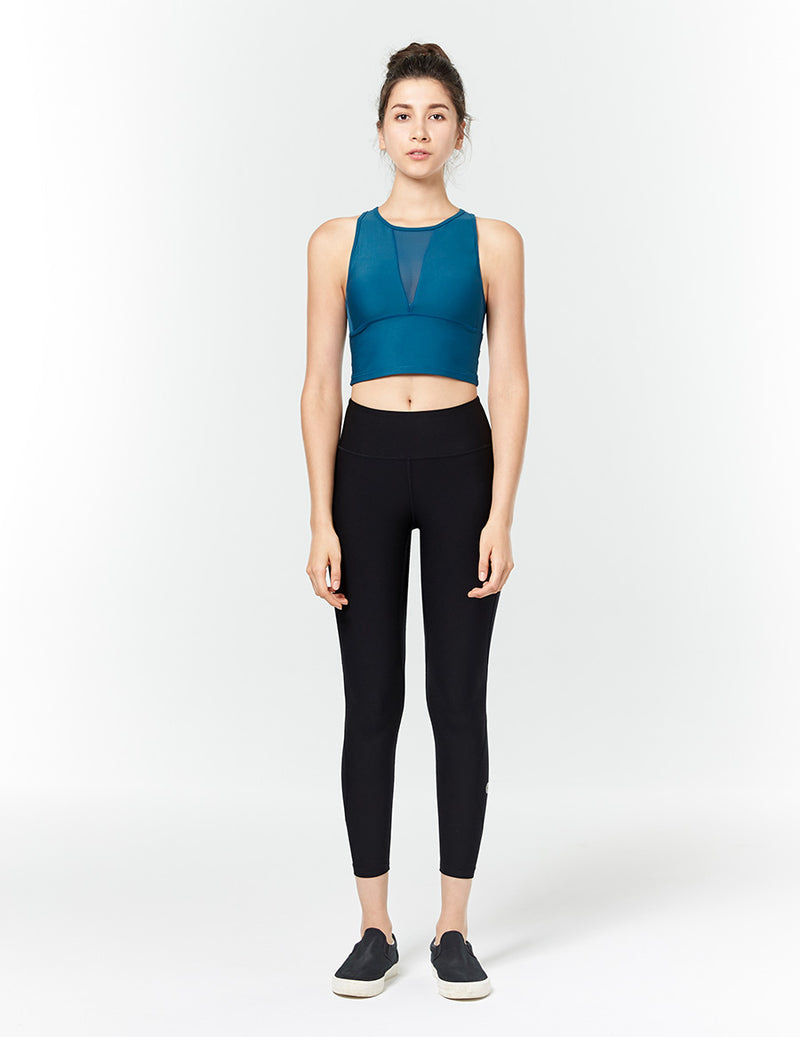 easyoga LA-VEDA Noble Cropped Tank1 - B31 Coral Blue