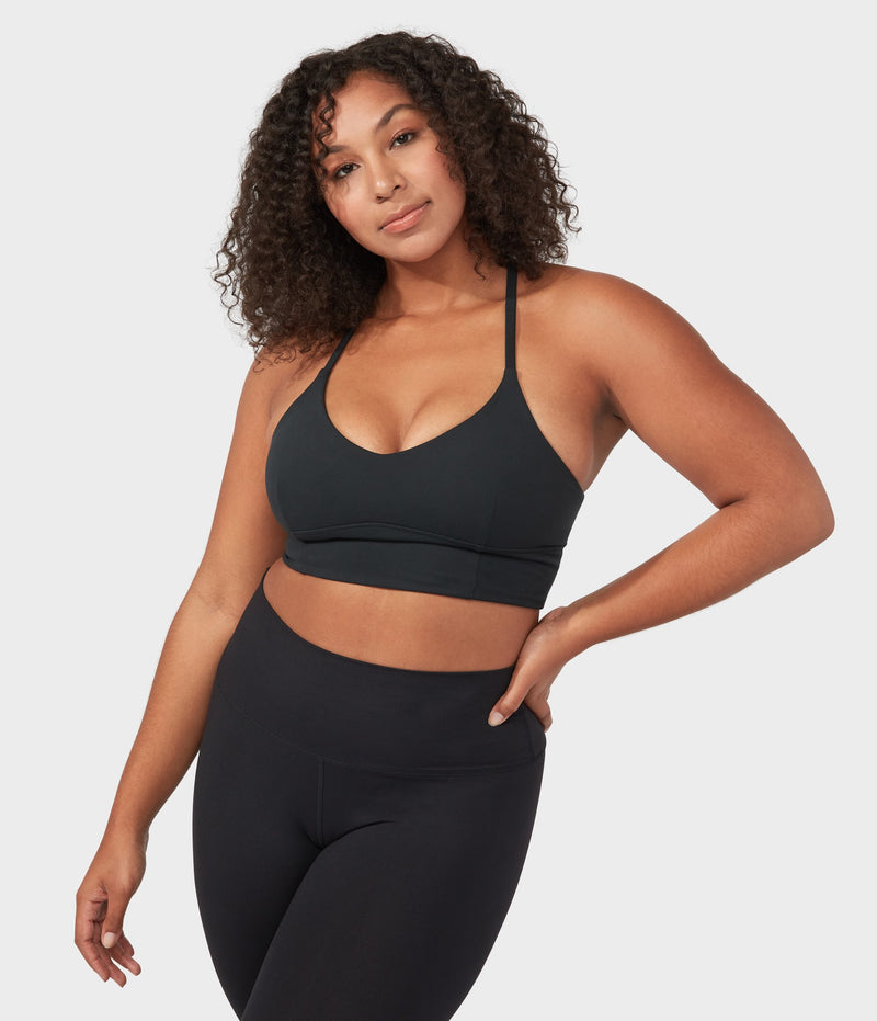 Manduka Apparel - Women's Performance Bra - Darted - Black