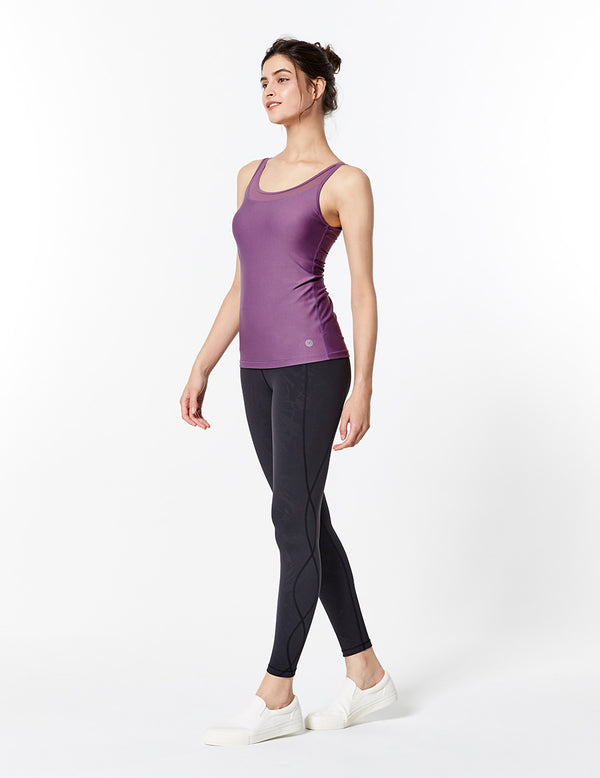 easyoga LA-VEDA Ethereal Wavy Core  Tight1 - F22 Black leaves Calender