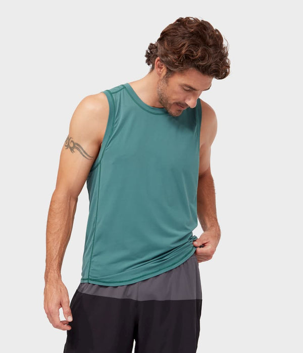 Manduka Apparel - Men's Tech Tank - Deep Surf