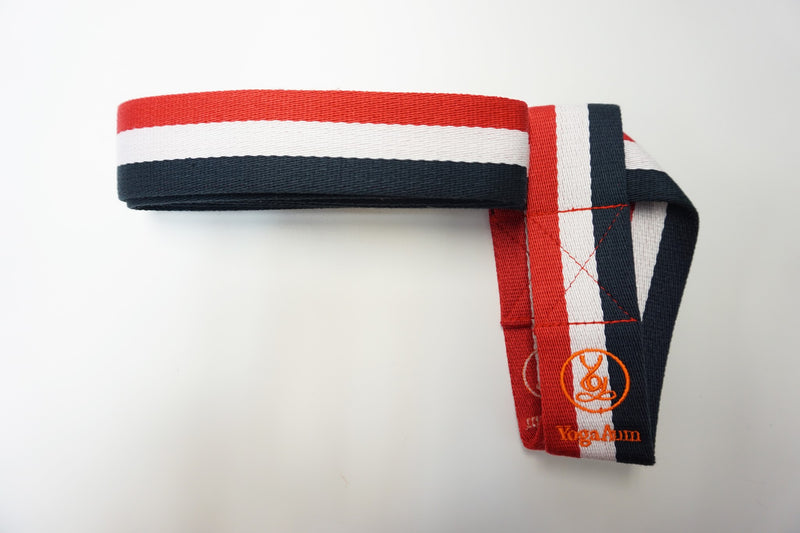 YogaAum Aum Mat Sling - Red/White/Dark Blue