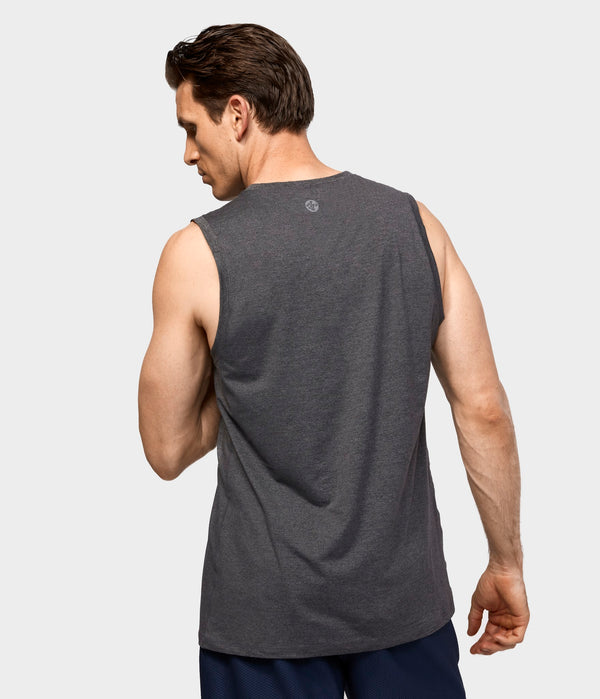 Manduka Apparel - Men's Cross Train Tank 01 - Heather Grey