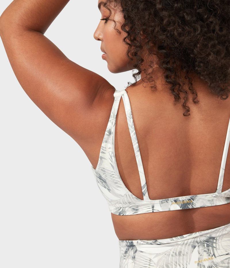 Manduka Apparel - Women's PRO Bra - Double Strap - Tropics - Grey