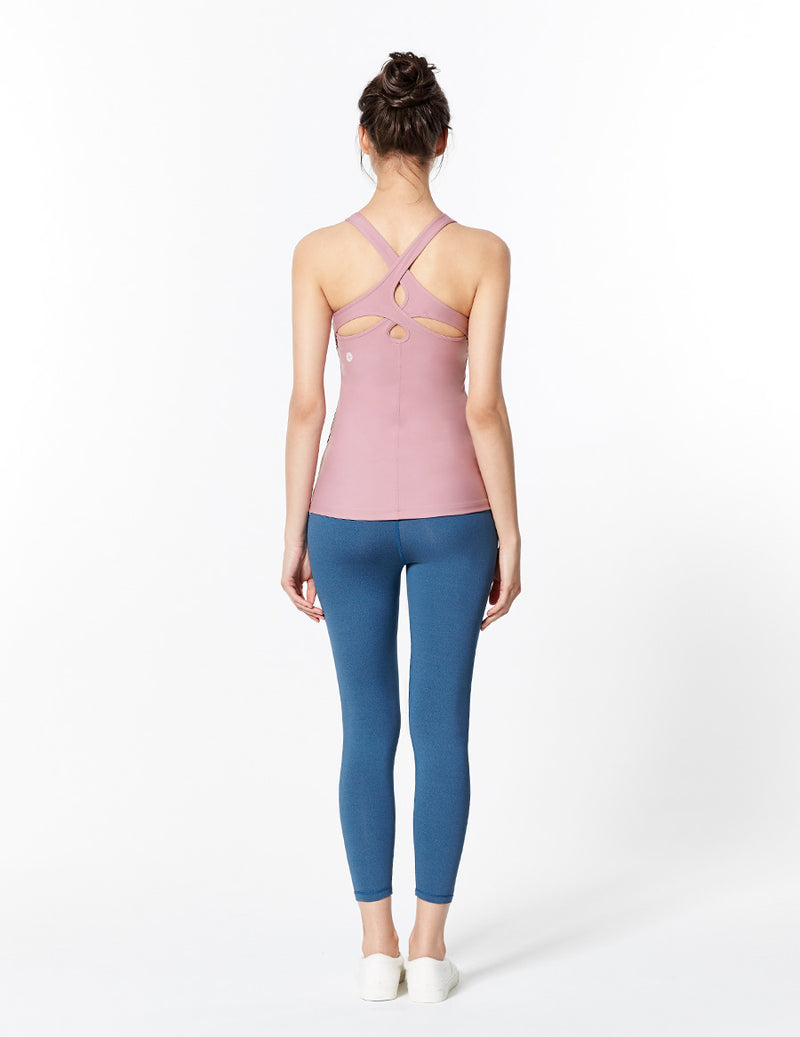 easyoga LA-VEDA Spiry Freedom Tank3 - P14 Dusty Rose Purple