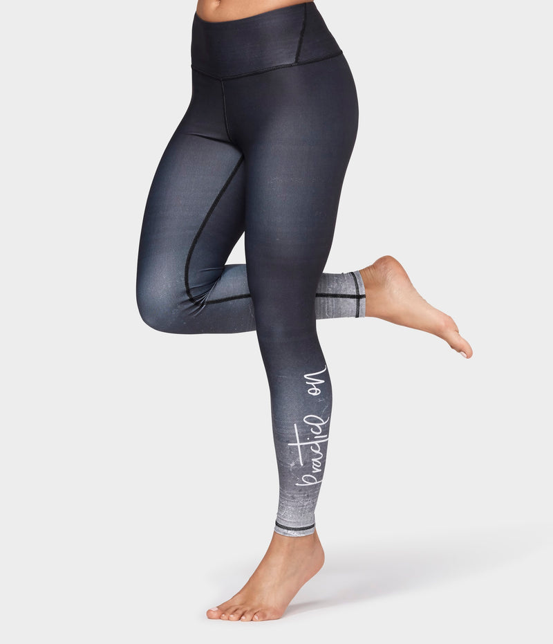 Manduka Apparel - Women's Practice On Legging - Black Multi