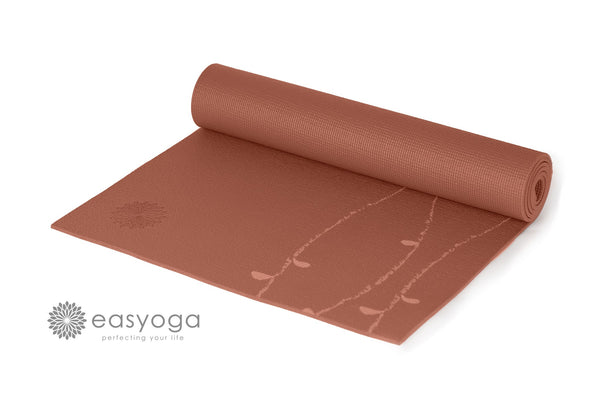 easyoga Premium Nadi Vine Yoga Mat - C5 Coffee Red