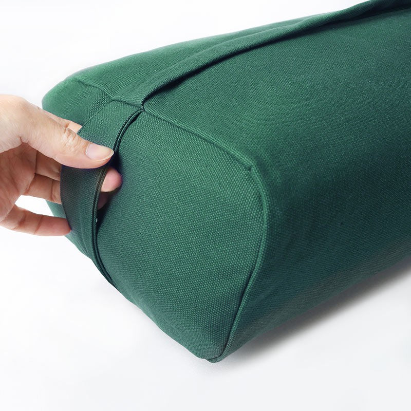 easyoga Premium Dual Handle Yoga Bolster - G04 Mulberry Leaves Green
