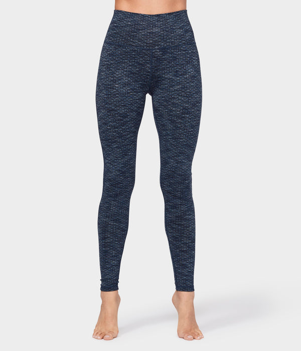 Manduka Apparel - Women's Essential High Line - Indigo Jacquard