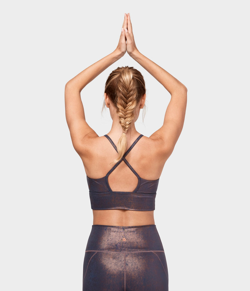 Manduka Apparel - Women's Darted Bra - Copper