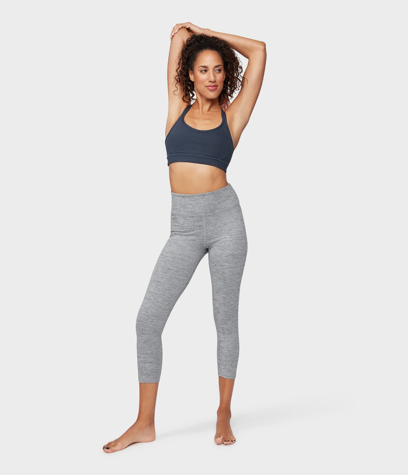 Manduka Apparel - Women's Essential Cropped Legging - Stone Melange