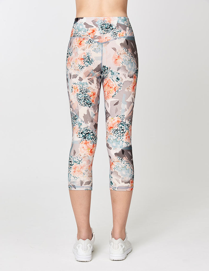 easyoga Lespiro Loop In Cropped Tights - F88 Fallen Petals