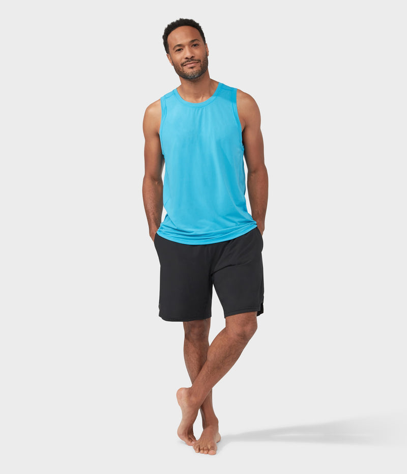 Manduka Apparel - Men's Pro Top - Tech Slim Fit Tank - Dresden Blue