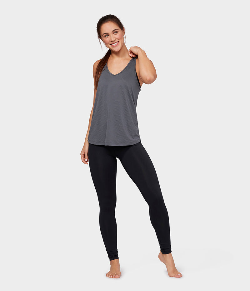 Manduka Apparel - Women's Breeze Racerback Tank - Charcoal