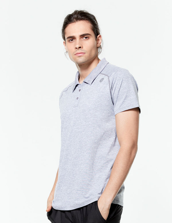 easyoga LA-VEDA Men's Speedy Polo Shirt - M01 M-Black white