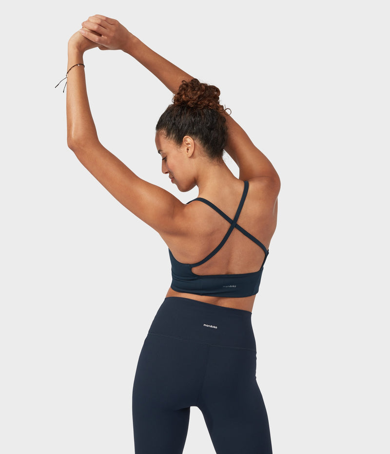 Manduka Apparel - Women's Performance Bra - Darted - Dark Sapphire