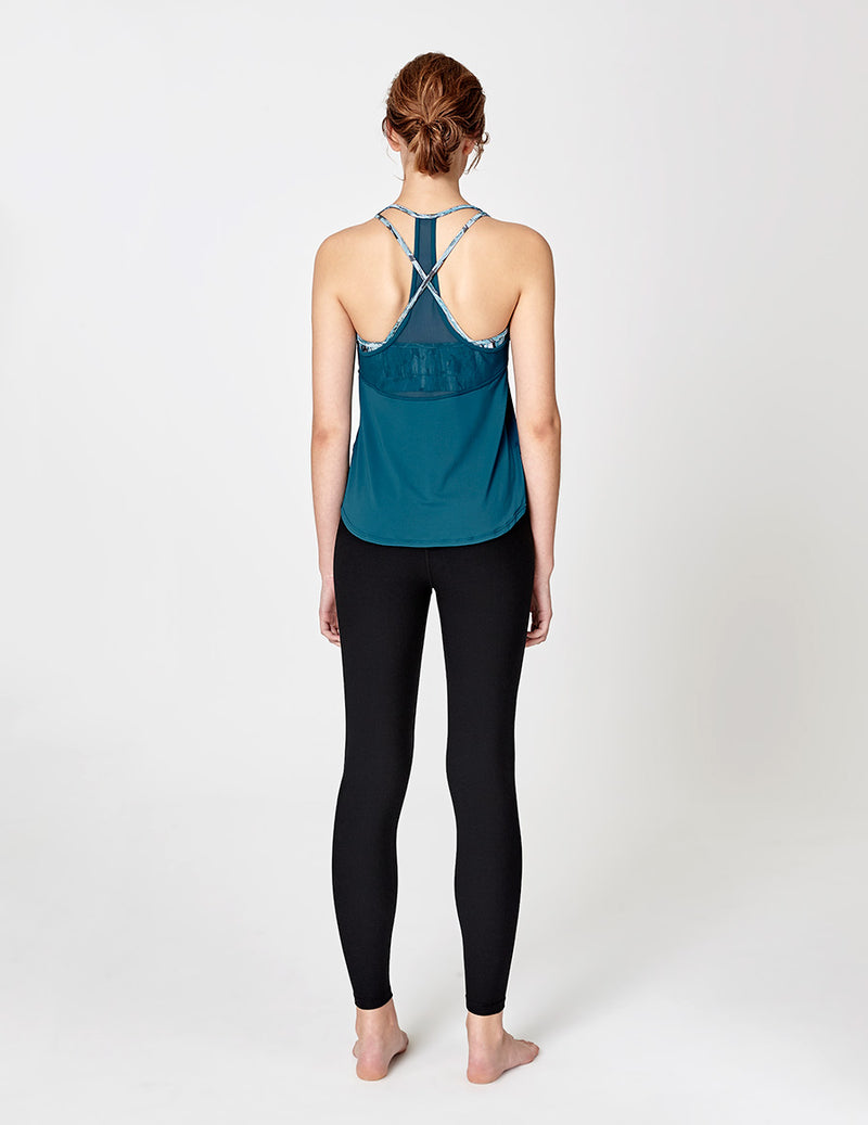 easyoga LA-VEDA Astral Layered Tank1 - B31 Coral Blue