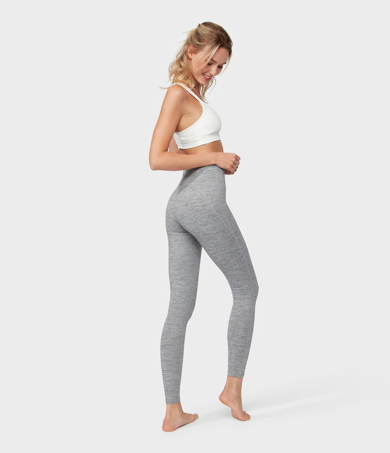 Manduka Apparel - Women's Essential High Line - Stone Melange-2