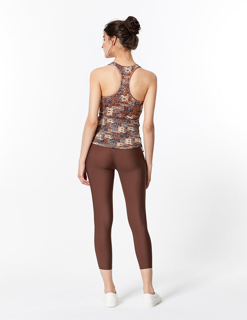 easyoga LA-VEDA Twiggy Core Cropped Tight - C1 Brown