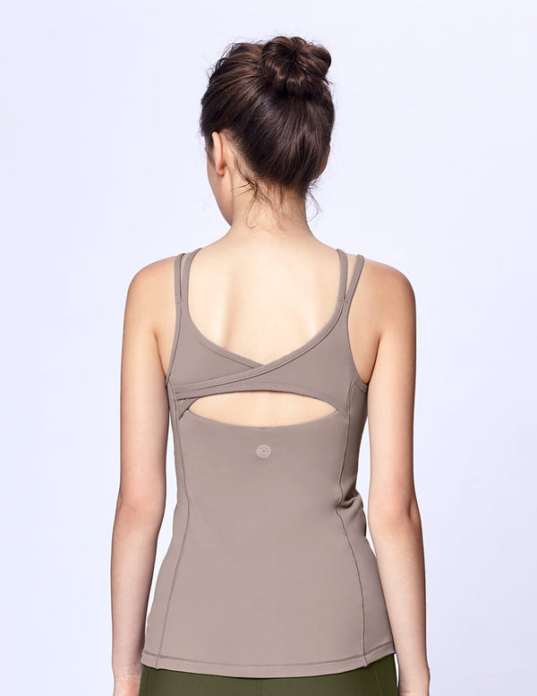 easyoga LA-VEDA Being True Tank - C7 Khaki