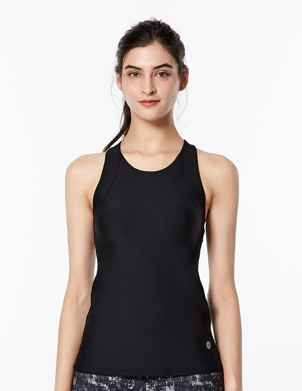 easyoga Lespiro Gentle Warrior Tank - L1 Black