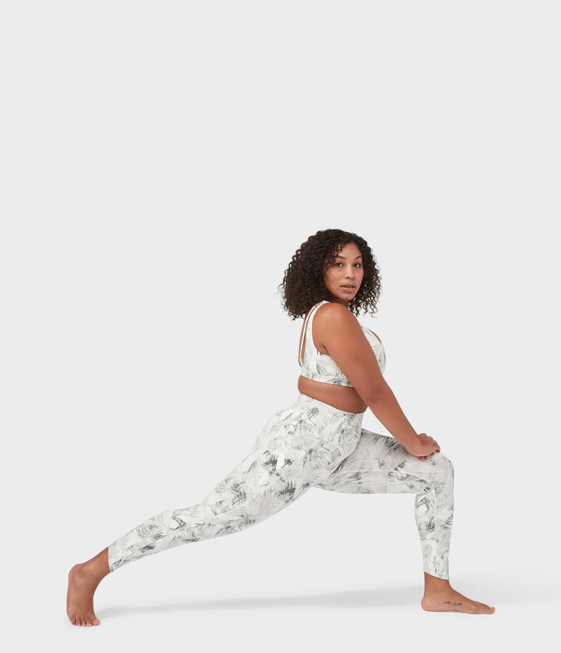 Manduka Apparel - Women's PRO Legging - High Rise 7/8 W/Pocket - Tropics - Grey