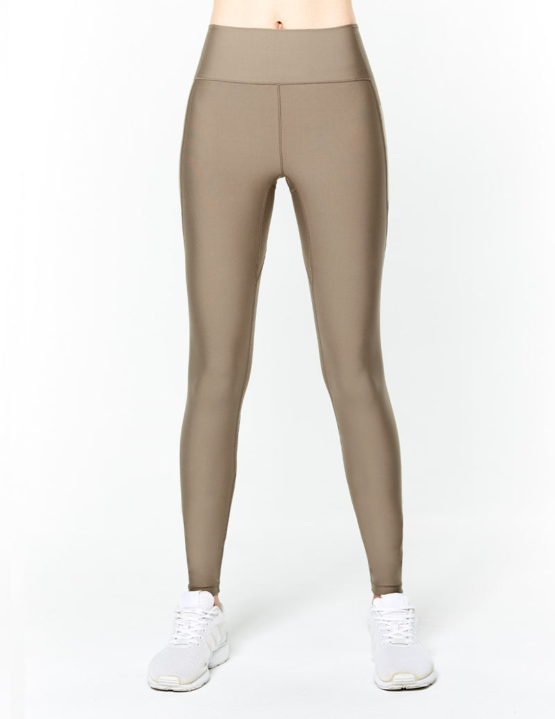 easyoga Lespiro Streamer Retro Tights - C09 Cement Brown