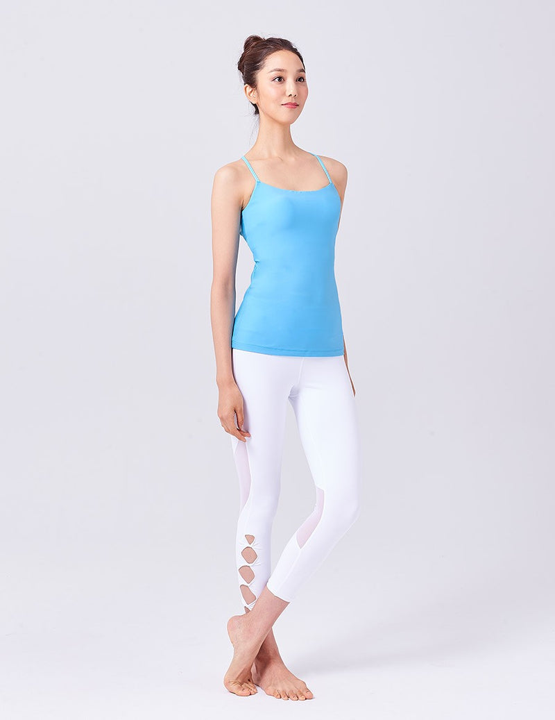 easyoga LA-VEDA Ethereal Interlace Tank - B28 Aquarius Blue