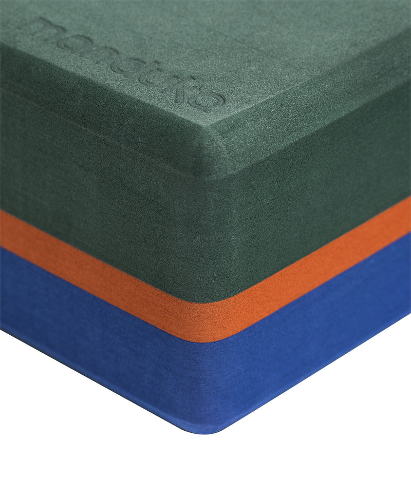 Manduka Recycled Foam Yoga Block (Limited Edition) - Sage 3-tone