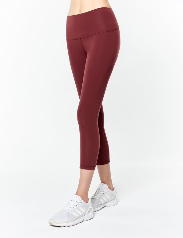 easyoga Lespiro Strike Out Cropped Tights - X12 Berry/Mint Stripe