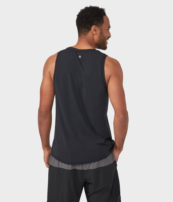 Manduka Apparel - Men's Pro Top - Tech Slim Fit Tank - Black