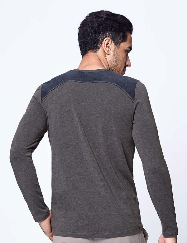 easyoga LA-VEDA Multipro Men's Reactive  Long Sleeve - M29 M-Mid Gray