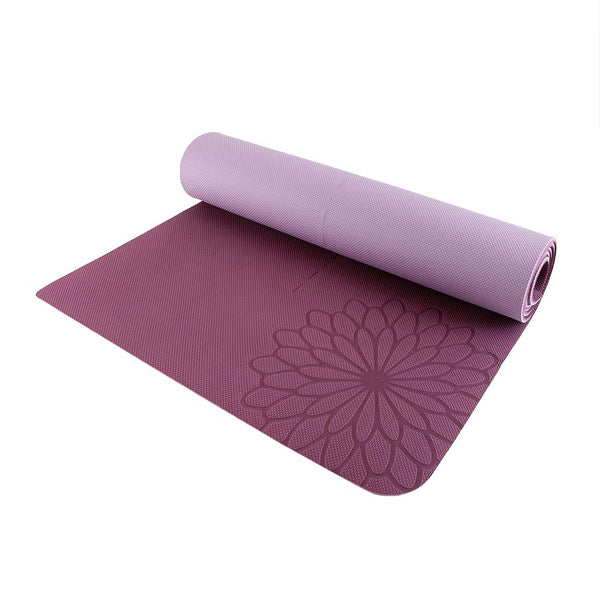 easyoga Premium Eco-care Yoga Mat Plus - R5 Wine Red/Lavender