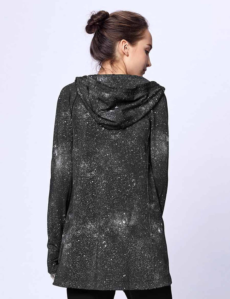 easyoga LA-VEDA Belief in HER Hooded  Jacket - F75 Galaxy Night