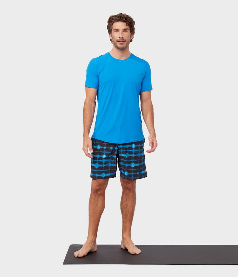 Manduka Apparel - Men's Tech Tee - Be Bold Blue