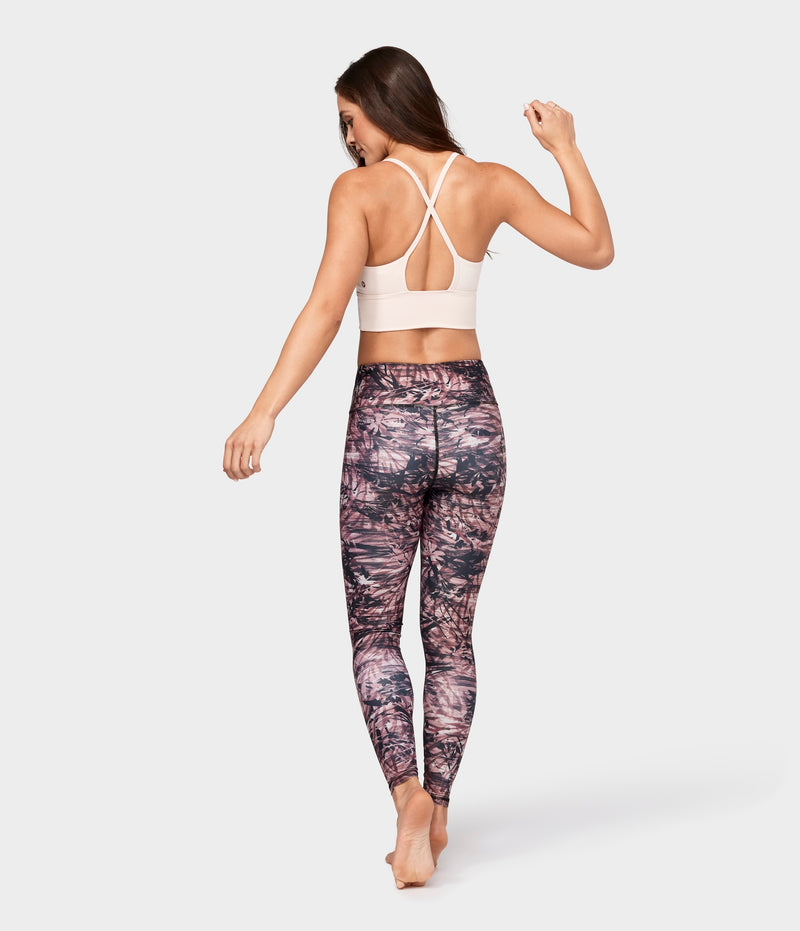Manduka Apparel - Women's Floral Camo Legging - Fig Multi